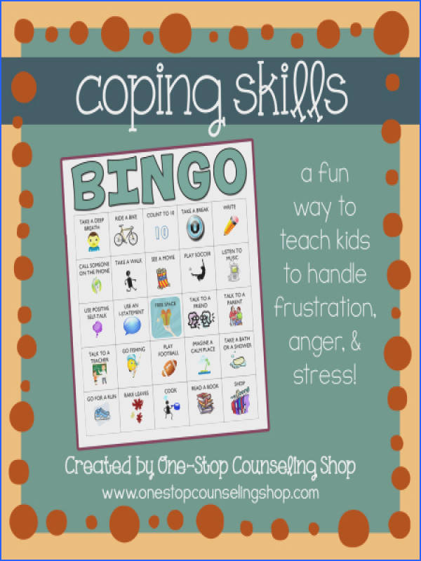 Stress management worksheets & infographic New ish Product Anger and Coping Skills Bingo Game Infographic Description Stress management techniques Stre