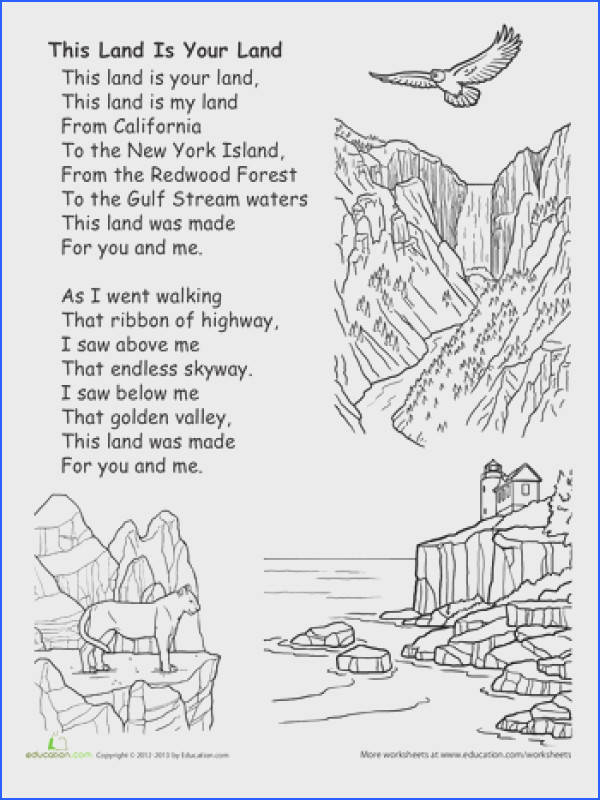 Worksheets This Land is Your Land