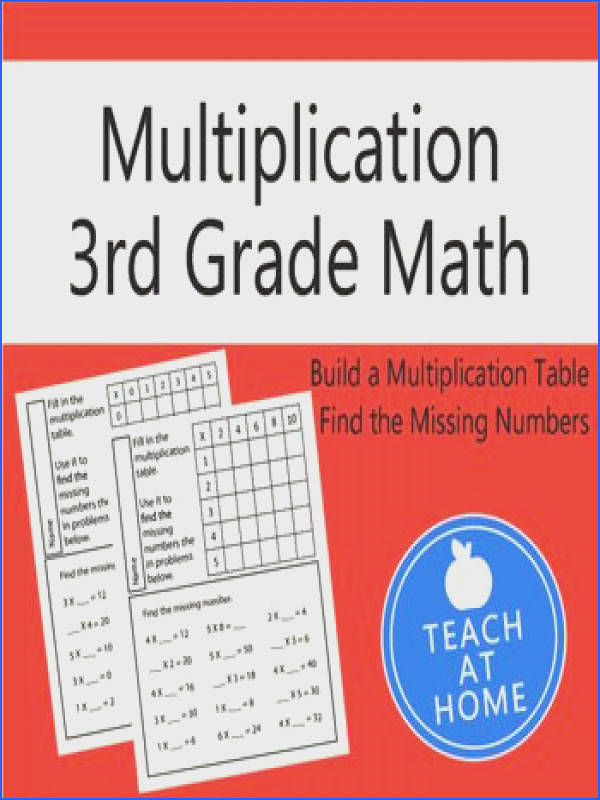 Grade Math Multiplication Worksheet Packet with Answers