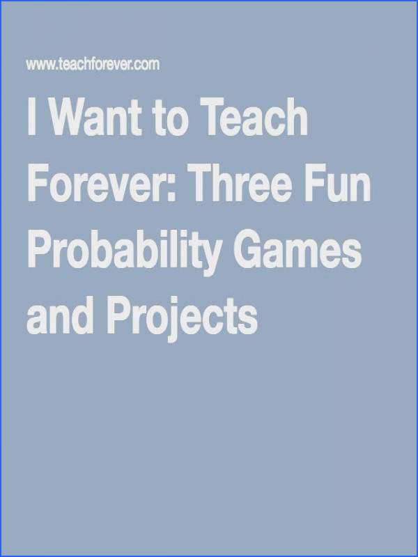 This page has probability game ideas that has the elements needed for game