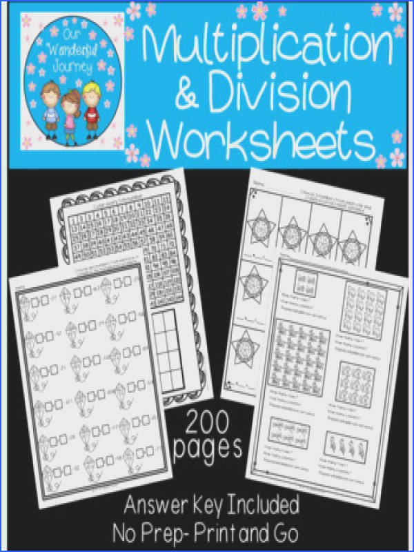 200 Multiplication and Division Worksheets