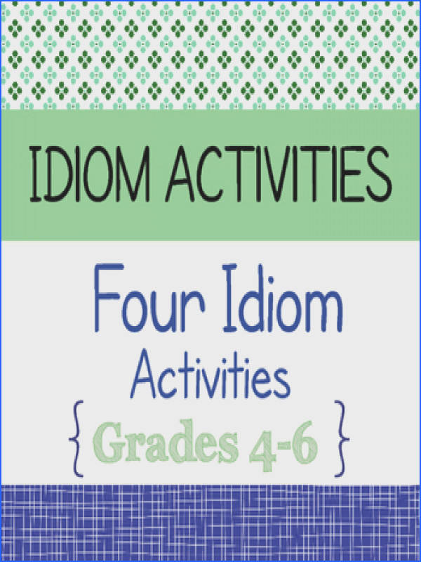 This resource includes four activities using idioms two are 1 page in length and two