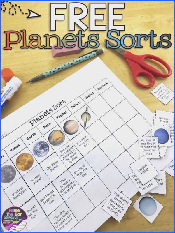 Three FREE planets sorts Such a fun planets activity for your solar system unit