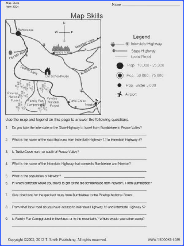 Map Skills worksheet Grade re mendation