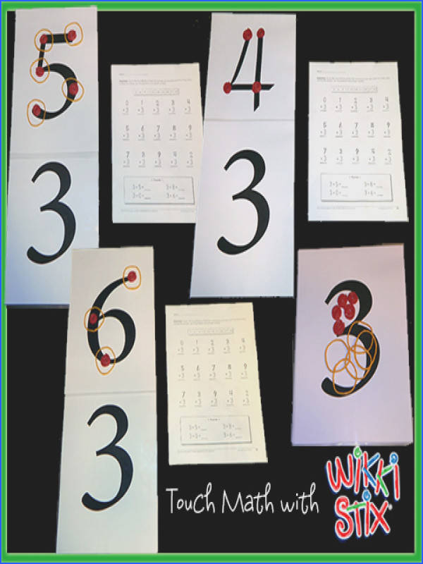We continue our Touch Math series with a creative lesson in Touch Math Multiplication First we created laminated number sheets using 5 mil lamination