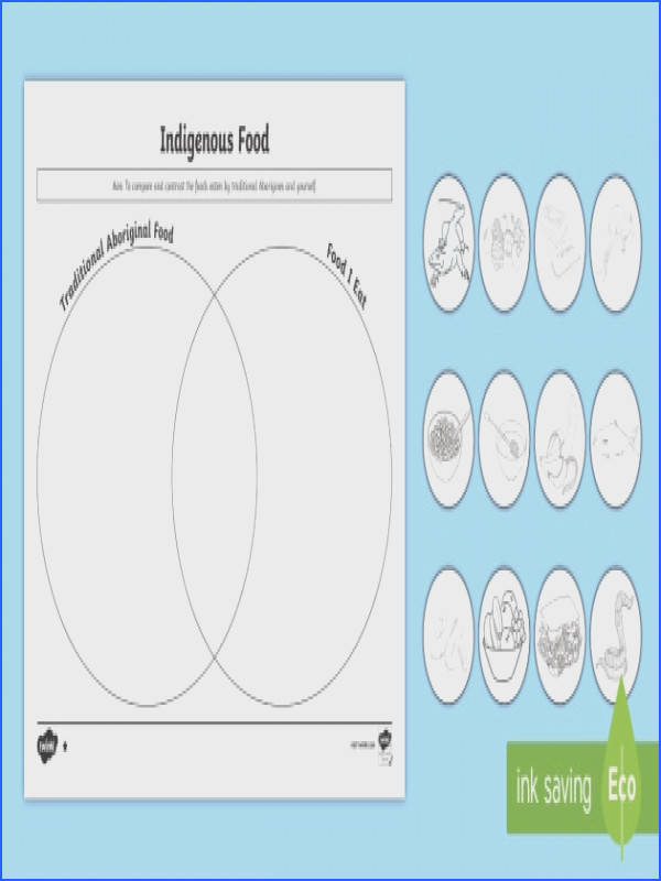 Traditional Aboriginal Foods Venn Diagram Differentiated Worksheet Activity Sheets Aboriginal food aboriginal lifestyle