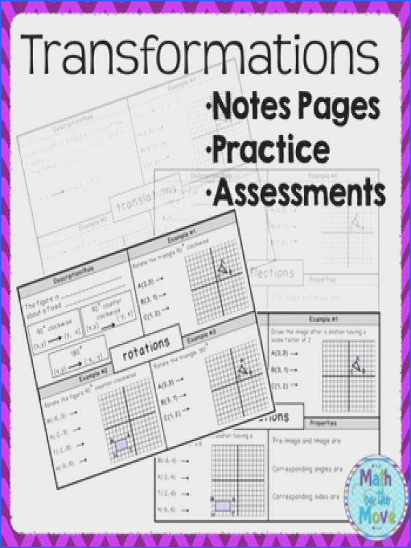 Transformations Notes Practice and Assessments