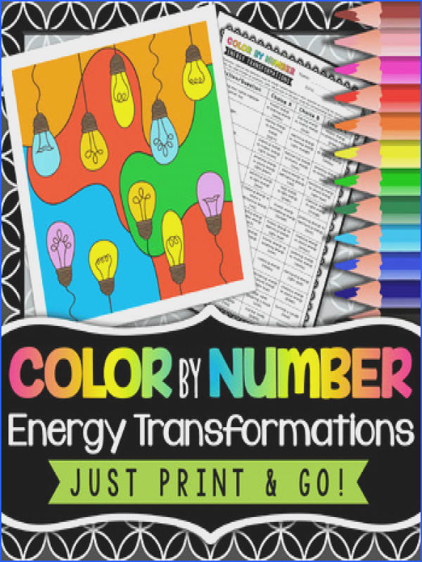 Energy Transformations Color By Number Energy Transformations Color By Number