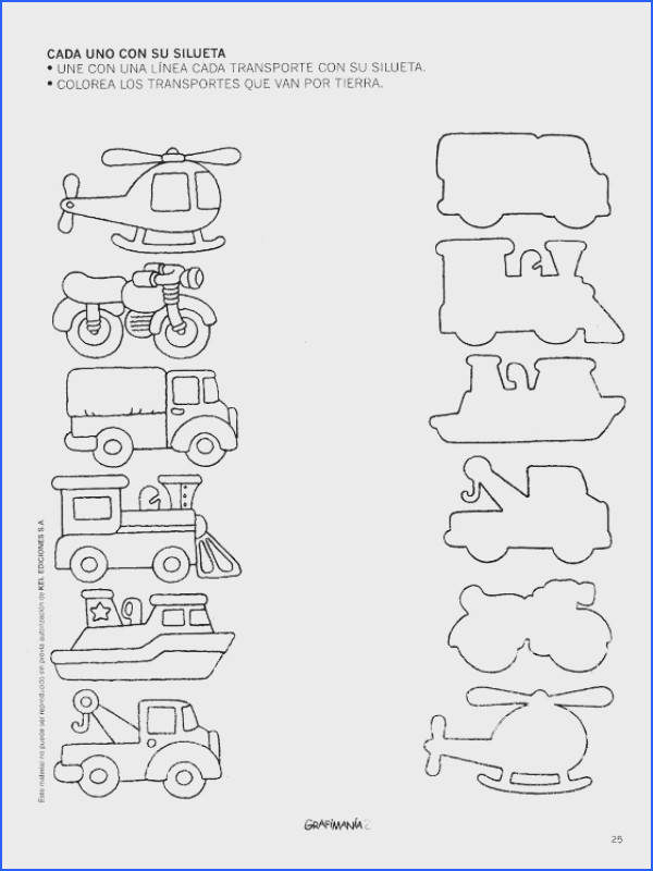 transportation shadow matching worksheet 1