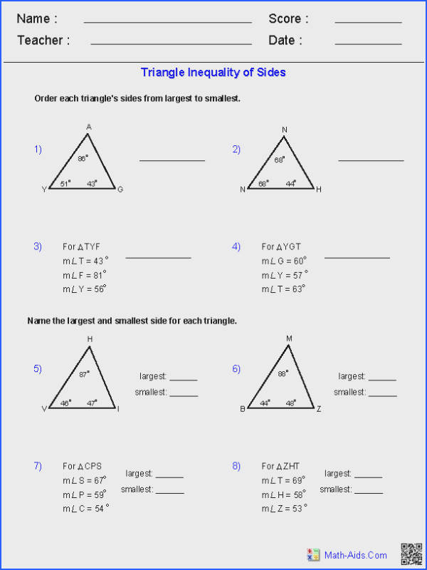 Triangle Inequalities of Sides