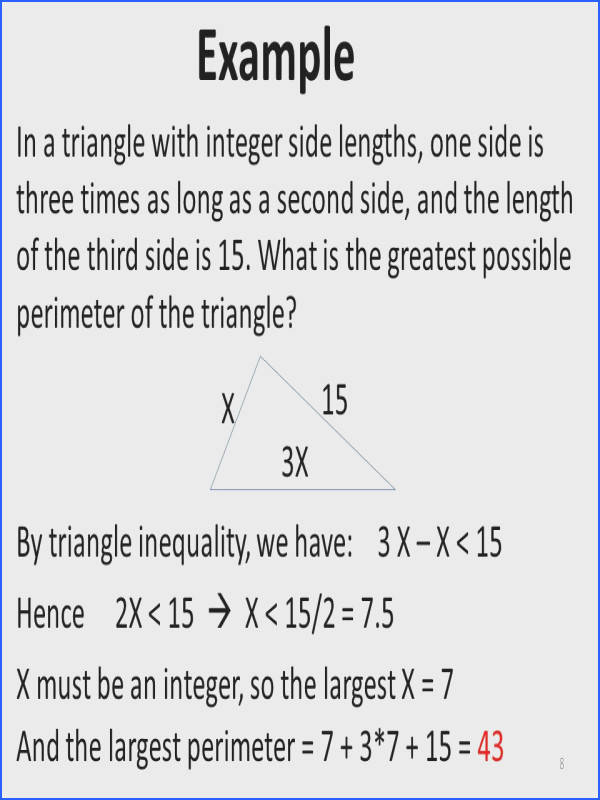 Triangle Inequality theorem Worksheet Fresh Geometry Review Lines and Angles Triangles Polygons Circles Ppt Collection