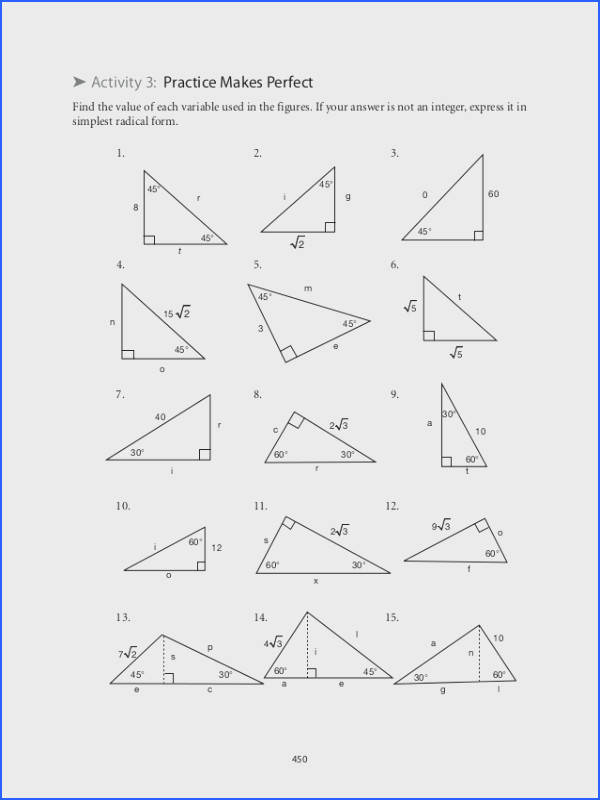 Trig Ratios Practice Worksheet Worksheets for all Download and Worksheets