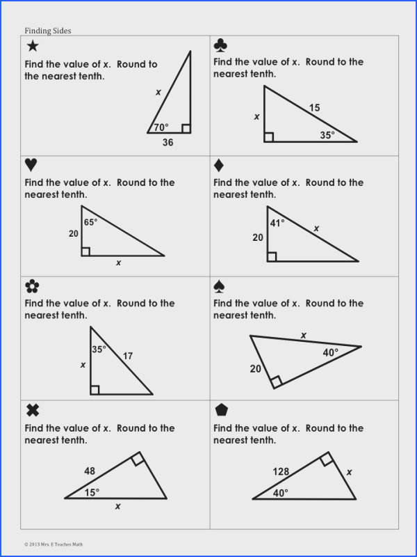 Geometry Trigonometric Ratios Sum Em Activity Sum em activities keep my students
