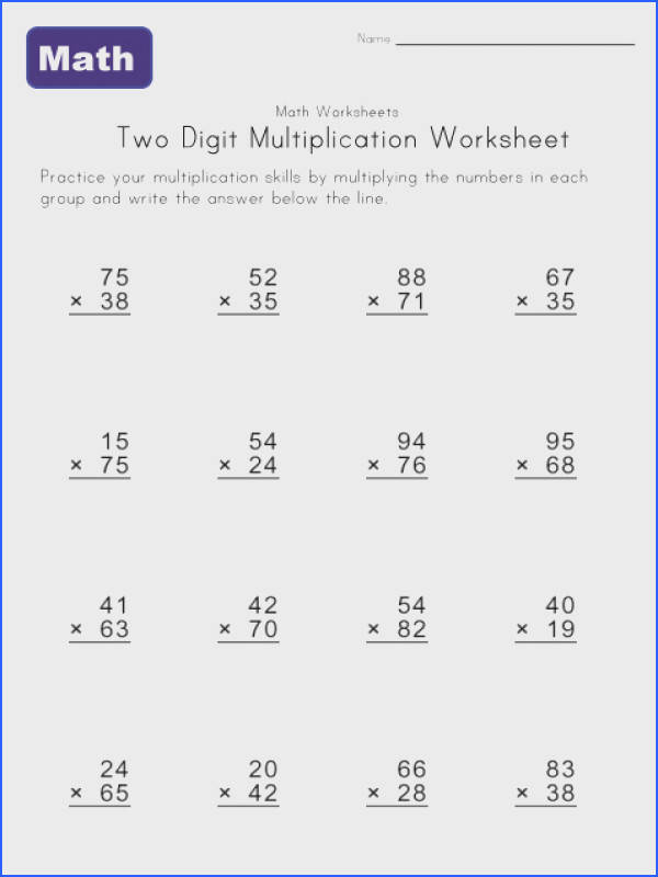 Two Digit Multiplication Worksheet 5 Stuff to Buy Image Below 2 Digit Multiplication Worksheets