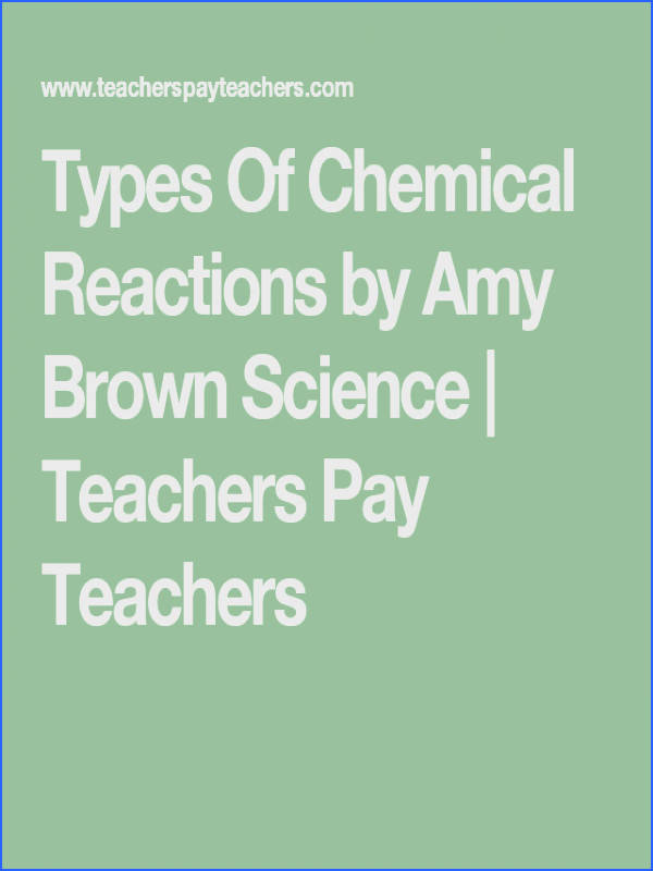 Types Chemical Reactions