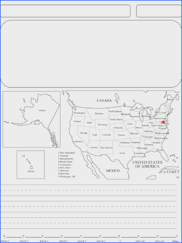 U S geography worksheet