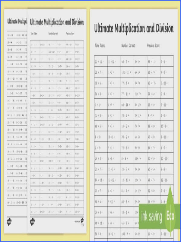 Ultimate Multiplication and Division Worksheet Activity Sheet Ultimate Multiplication and Division Worksheet Activity