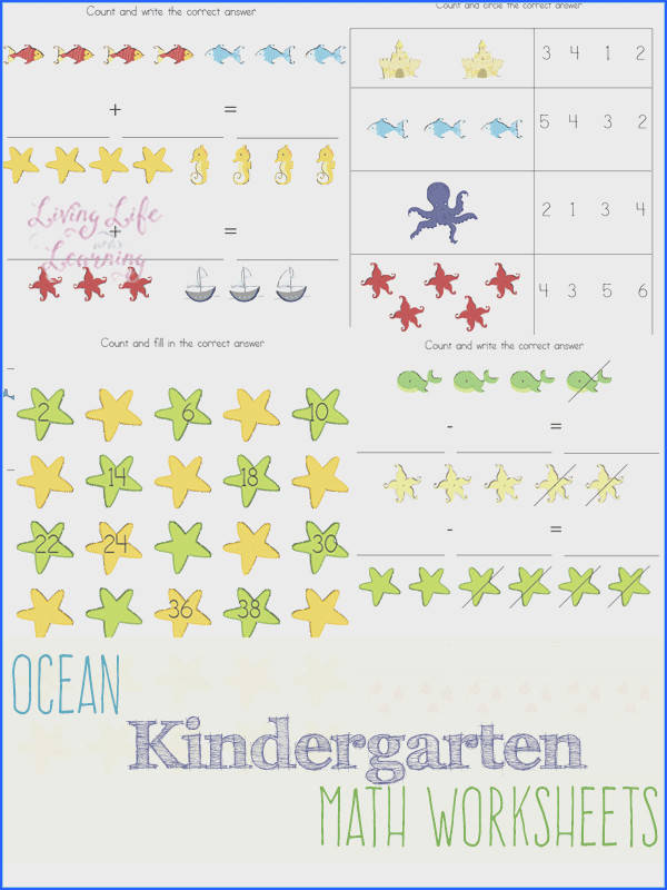 Under the Sea Kindergarten Math Worksheets