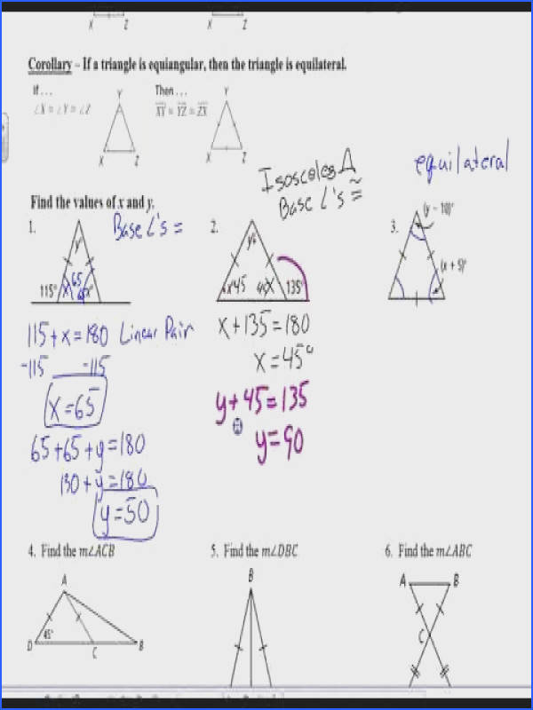 Unit 4 Lesson 5 Isosceles and Equilateral Triangles