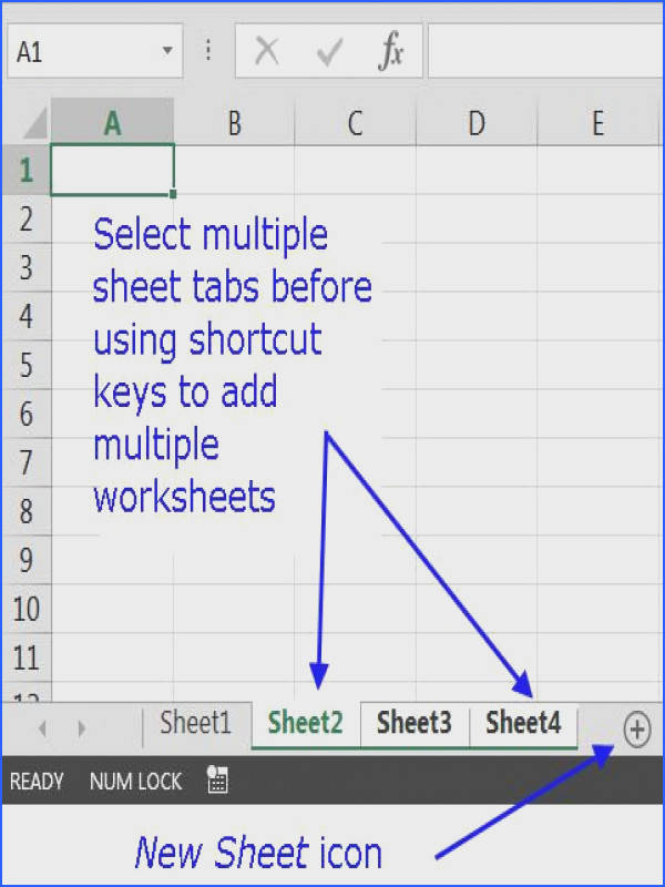 Insert a New Worksheet Using a Keyboard Shortcut