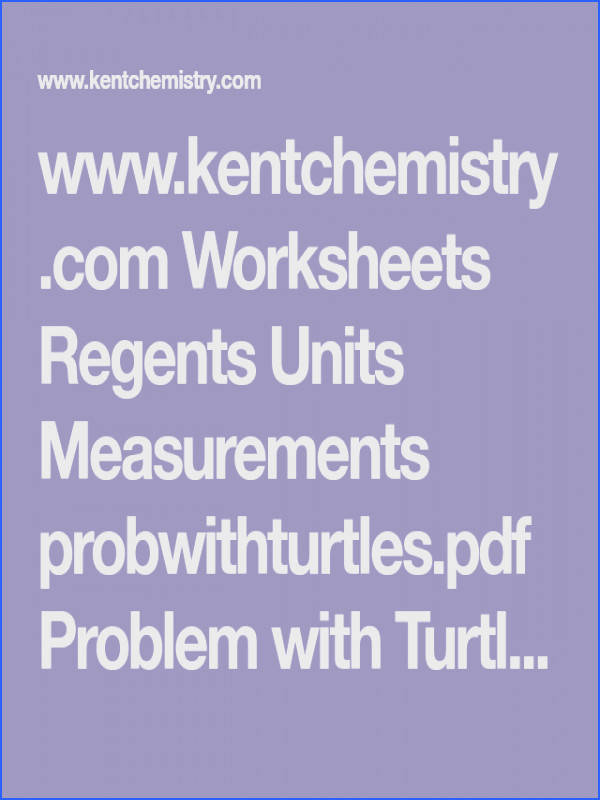 Use Problem with Turtles Activity for Dimensional Analysis INTRO