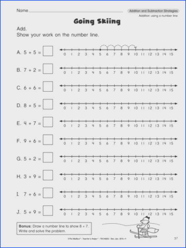 Use this format to make my own number line worksheets for plus one minus one