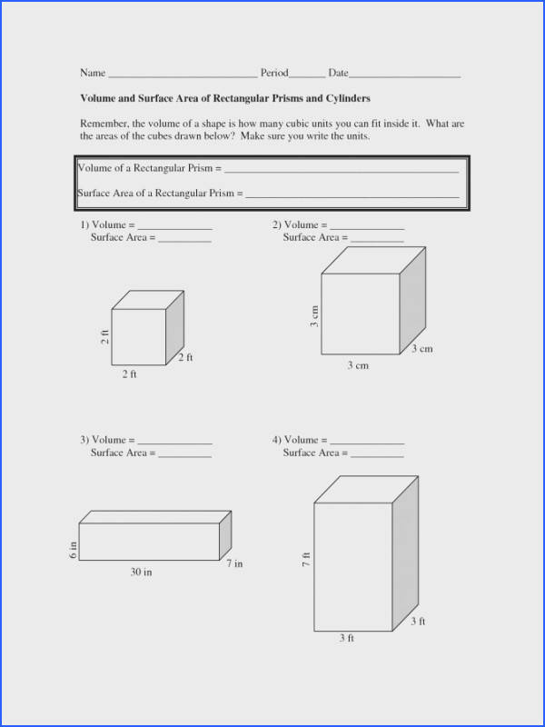 Volume And Surface Area Worksheets Math 4th Grade 2aa1eeb e b1 Volume Math Worksheets Worksheet Medium