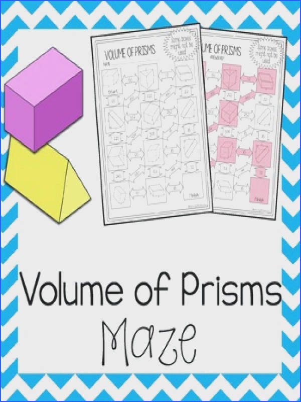 Volume of Prisms Maze