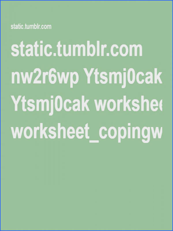 Wellcast Worksheet Coping with Fear pdf