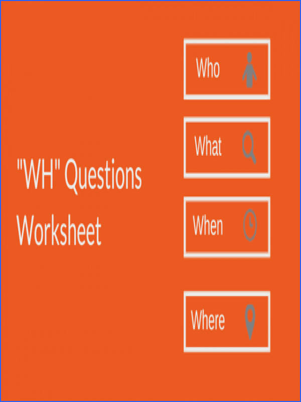 WH questions worksheet featured image