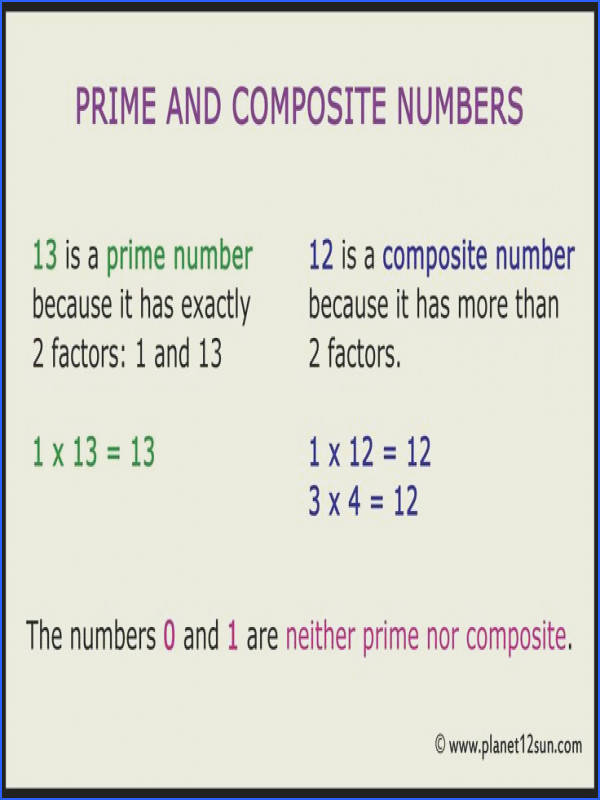 What are prime and posite numbers List of prime and posite numbers Homeschooling