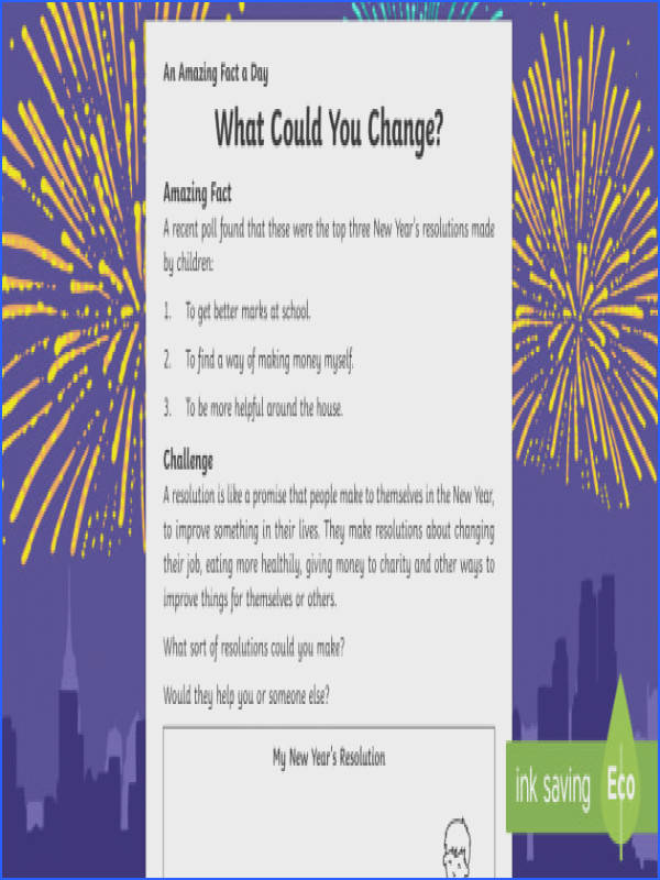 What Could You Change Worksheet Activity Sheet Amazing Fact The Day