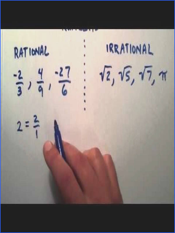 What is the Difference Between Rational and Irrational Numbers Intermediate Algebra Lesson 12