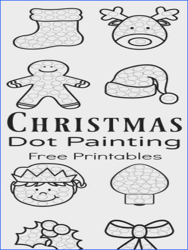 Christmas Dot Painting Free Printables