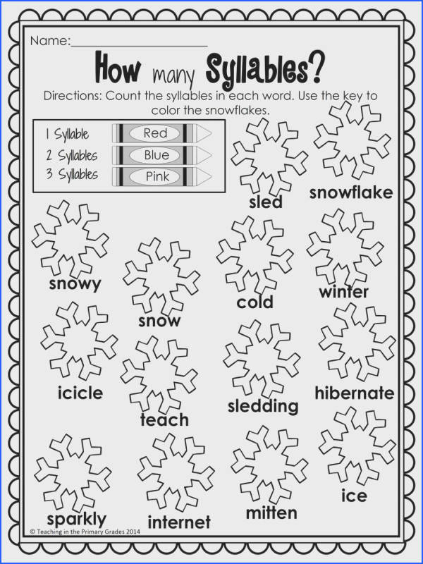 Winter First Grade Activities Your first graders will love to review math and literacy concepts
