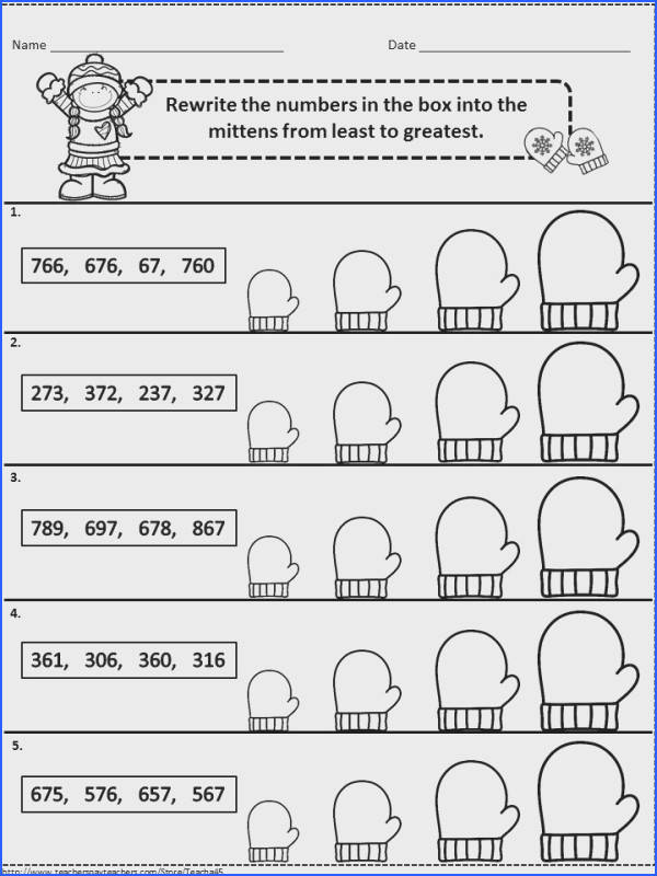 Winter Math Worksheets For 2Nd Graders Worksheets for all Download and Worksheets