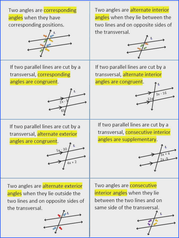 Worksheet 3 Parallel Lines Cut by A Transversal Answer Key Best 398 Best Geometry