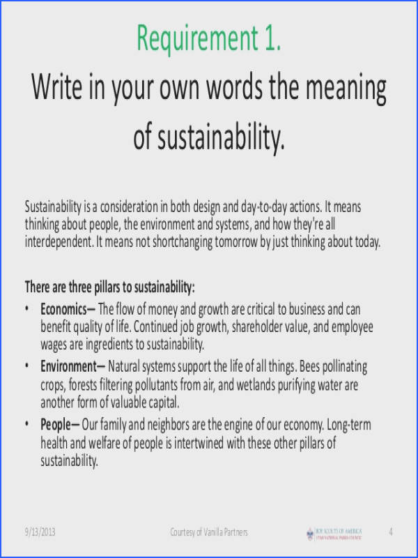 Sustainability Merit Badge for Boy Scouts – Boy Scouts of America Merit Badge Worksheets