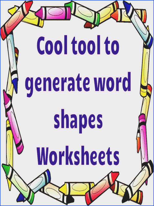 Free Word shapes worksheets generator