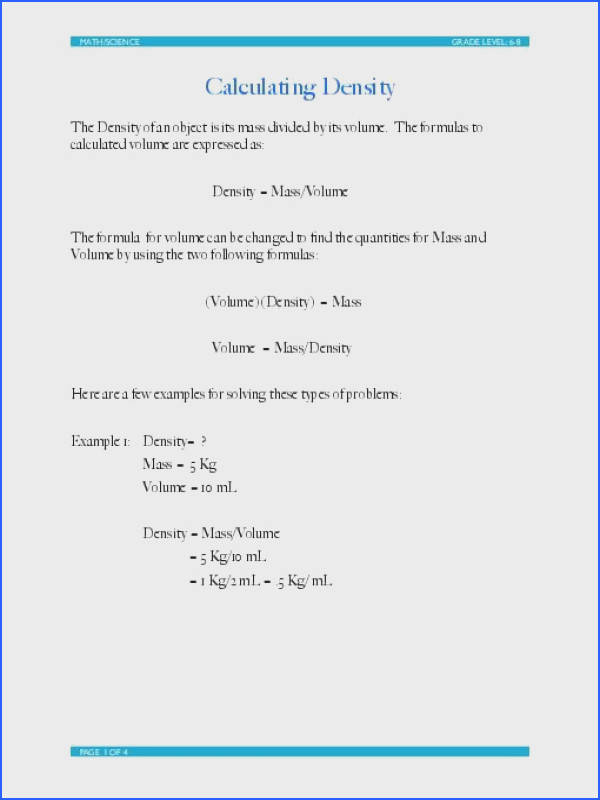 Worksheet Density Drill and Practice 2 product from MrTerrysScience on TeachersNotebook Science Pinterest