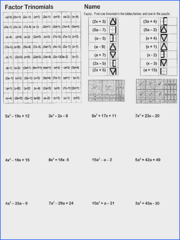 Worksheet Factoring Trinomials Answers New 50 Best Math Log Et Expo Pinterest Pics
