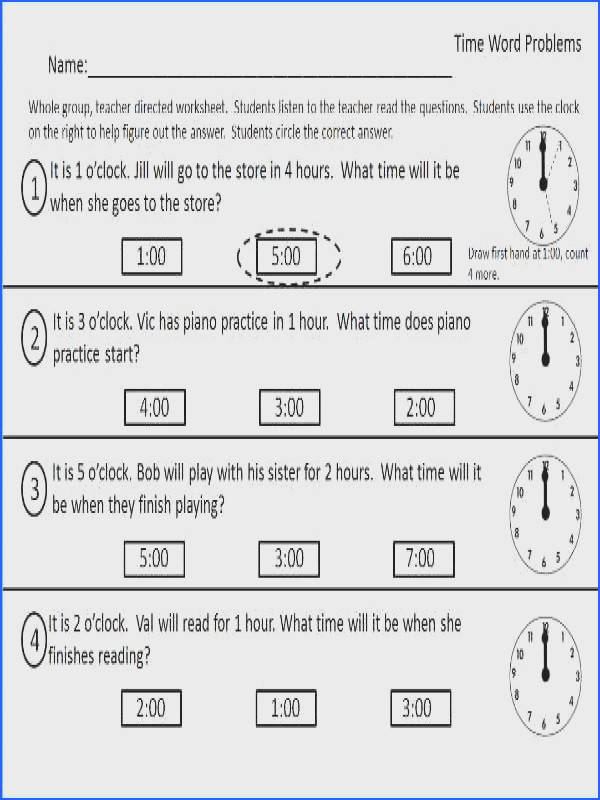 Worksheet for telling time Part of the Time packet located at Teachers pay Teachers Claire