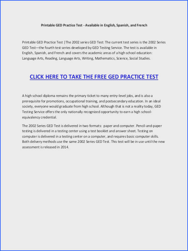 Math Worksheets Ged Practice Test line Questions Print Out Free Printable Geometry 2014 950