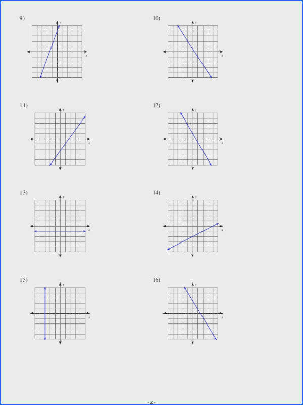 Slopes Worksheet Delibertad – Math Slope Worksheets