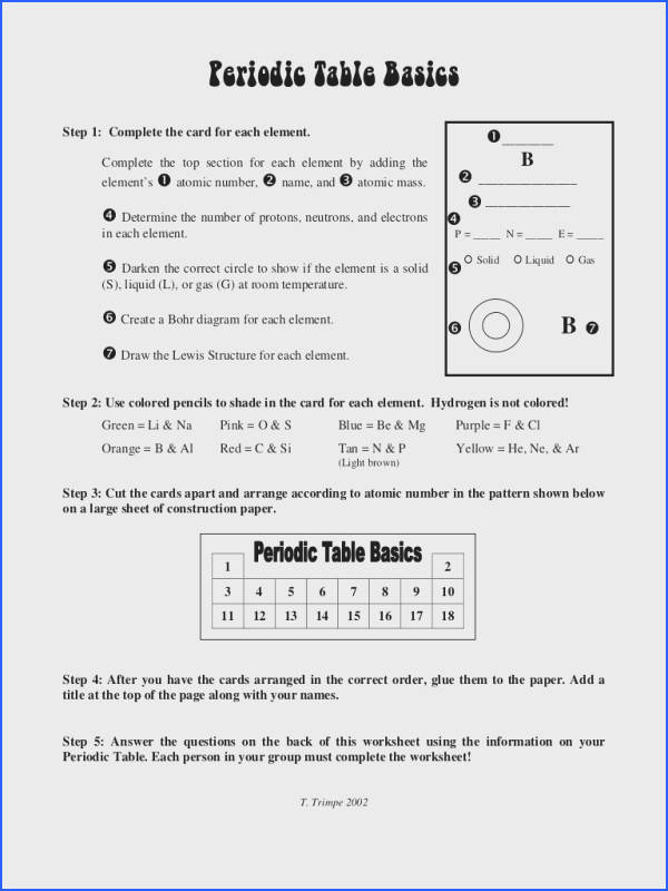 Worksheet Periodic Table Trends Answer Key Worksheets for all Download and Worksheets
