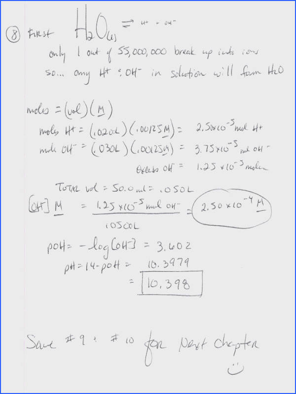 Worksheet Ph Calculations