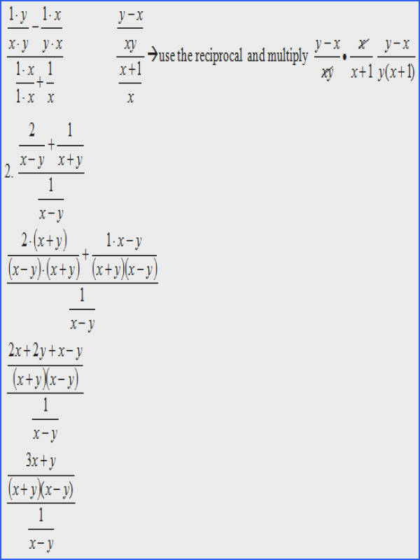 Simplifying plex Rational Expressions SAS – Simplifying plex Fractions Worksheet