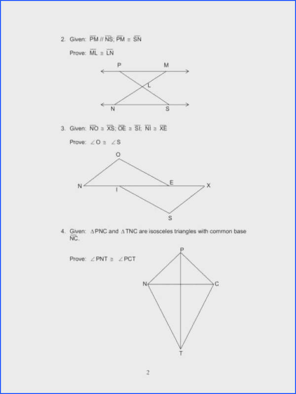 Full Size of Worksheet Template 4 6 Using Congruent Triangles Cpctc Math