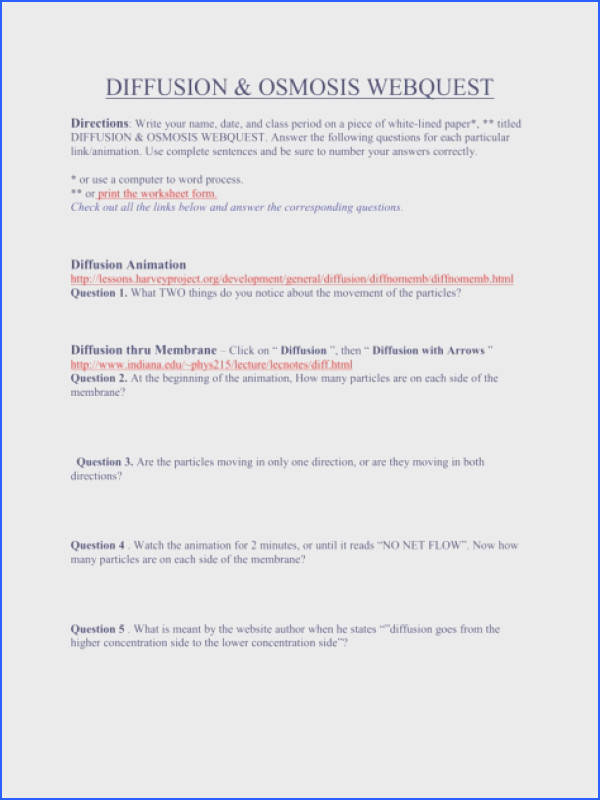 Full Size of Worksheet Template osmosis Homework Science Biology Osmosis