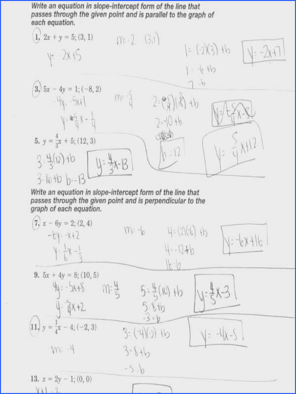 Parallel And Perpendicular Lines Worksheet Mychaume